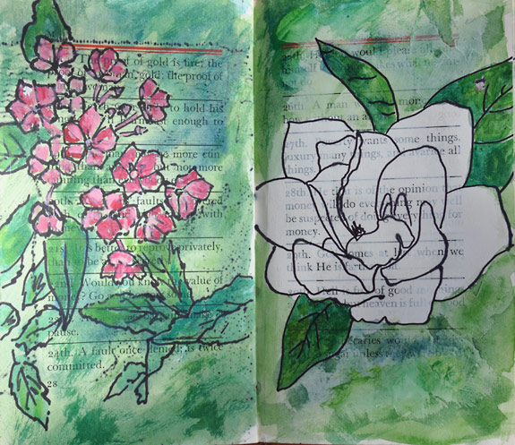 A Visual Journal Page - Flowers