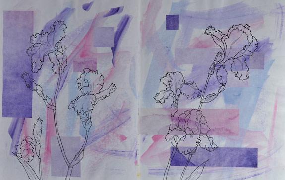 A Visual Journal Page - Iris