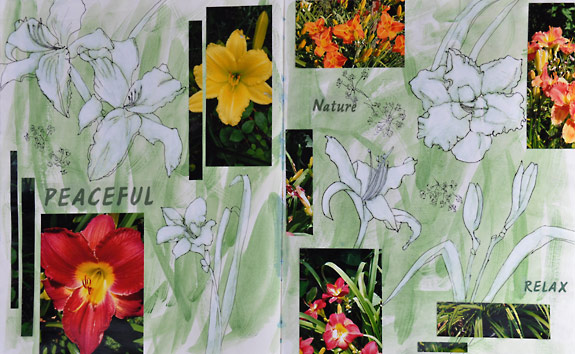 A Visual Journal Page - Lilies