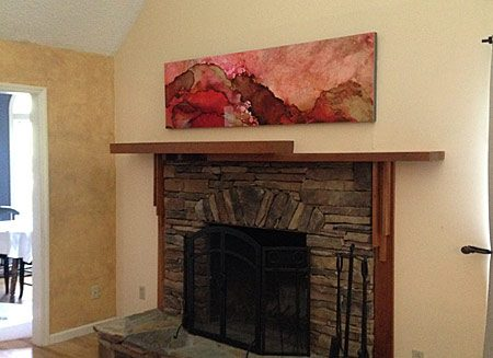 Installed painting in Collector's home.